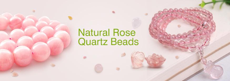 Natural Rose Quartz Beads