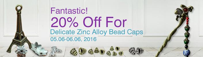 Zinc Alloy Bead Caps