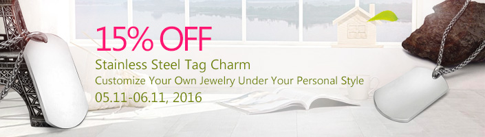 Stainless Steel Tag Charm