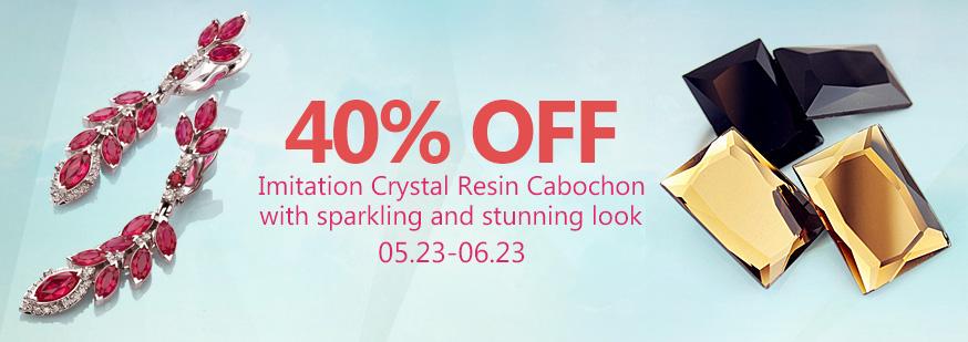Imitation Crystal Resin Cabochon