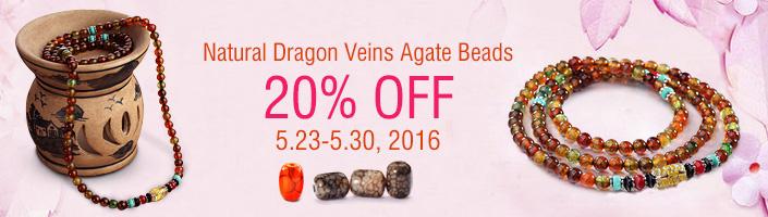 Natural Dragon Veins Agate Beads
