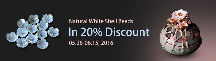 Natural White Shell Beads