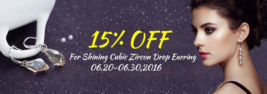 Cubic Zircon (CZ) Drop Earring