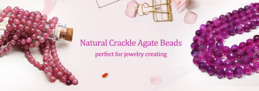 Natural Crackle Agate Beads