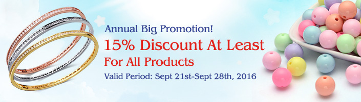 Annual Big Promotion 15% Discount At Least For All Products
