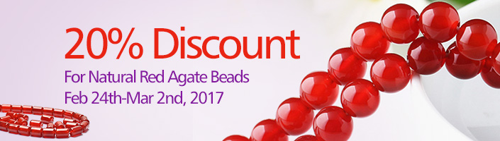 Natural Red Agate Beads