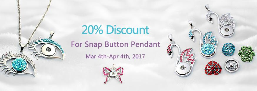Snap Button Pendant
